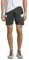 Neil Barrett Neoprene Modernist-Stripe Shorts