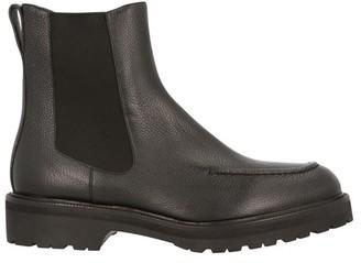 Dries Van Noten Grained leather chelsea boots