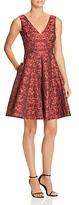 Betsey Johnson Rose Print Jacquard Dress