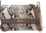 Just Cavalli Snake-effect leather shoulder bag