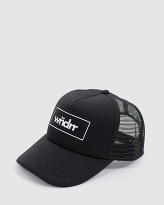 WNDRR - Men's Black Caps - Accent Trucker Cap - Size One Size at The Iconic