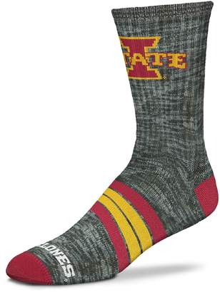 NCAA Adult For Bare Feet Iowa State Cyclones Quad Crew Socks