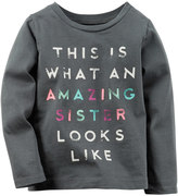 Carter's Baby Girl Long Sleeve Slogan Tee