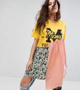 Reclaimed Vintage Inspired Customised Varsity T-Shirt Dress