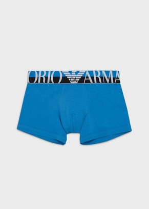 Emporio Armani Boxer Briefs With Two-Toned Logo Waistband