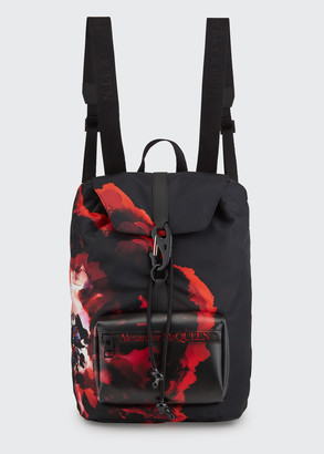 Alexander McQueen Men's Urban Logo Messenger Backpack
