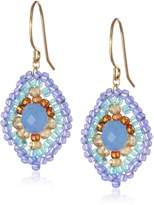 Miguel Ases Quartz and Topaz Hydro Lotus Drop Earrings, 1.4""