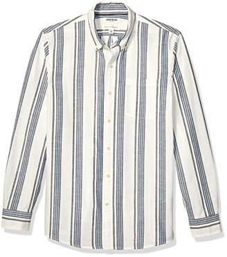 Goodthreads Standard-fit Long-sleeve Pattern Chambray Shirt Button,Mediu