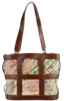 Salvatore Ferragamo Leather-Trimmed Quilted Tote