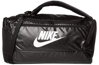 Nike 41 L Brasilia S Backpack Duffel (Black/Black/White) Bags