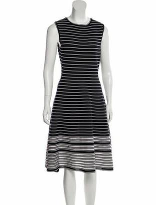 Oscar de la Renta 2018 Striped Dress white