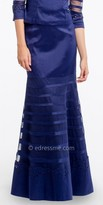 Camille La Vie Illusion Band Taffeta Skirt