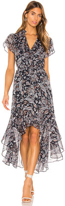1 STATE Flutter Sleeve Lyrical Paisley Dress