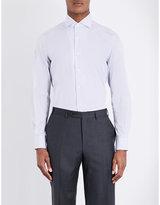 Corneliani Slim-fit Gingham-print Cotton Shirt