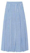 Gucci Pleated checked wool skirt