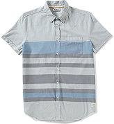 William Rast Reverse Print Stripe Short-Sleeve Shirt