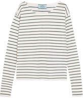 Prada Striped Cotton-jersey Top - Cream