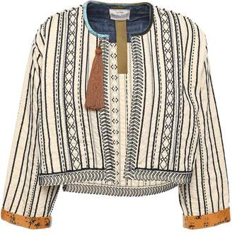 Forte Forte Forte_forte Tasseled Embroidered Cotton And Silk-blend Jacket