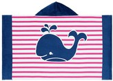 Pottery Barn Kids Breton Stripe Whale Beach Wrap, Girl