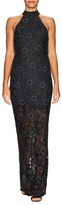 ABS by Allen Schwartz Lace Cut Out Back Sheath Dress