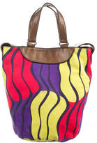 Marni Leather-Trimmed Printed Satchel