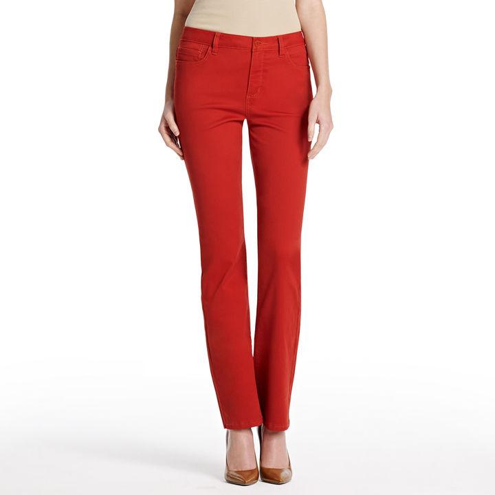 "Jones New York The Colored Straight Leg Jean with 32.5"" Inseam"