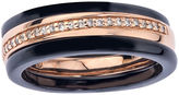 MODERN BRIDE 1/8 CT. T.W. Diamond Two-Tone Stackable 3-pc. Wedding Band Set
