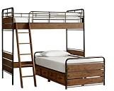Pottery Barn Kids Owen Loft & Platform Storage Bed Set