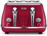 De'Longhi Elements Four Slice Toaster - Red