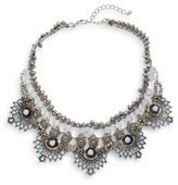 Cara Five-Station Beaded Collar Necklace