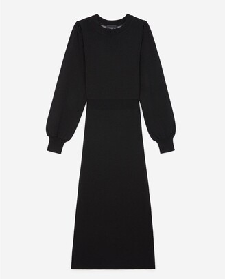 The Kooples Long knit dress with elastic waist