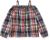 Ralph Lauren 2-6X Plaid Off-The-Shoulder Top