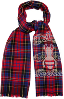 Gucci Bee-embroidered wool scarf