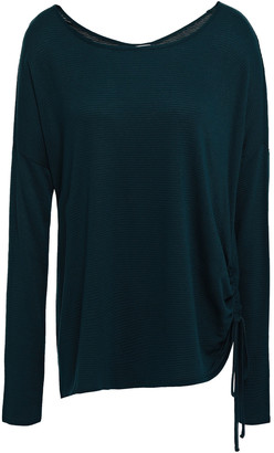 Charli Ruched Stretch-knit Top