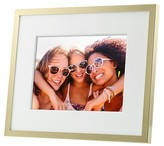 "Polaroid Digital Photo Frame 8"" Metal Brushed Brass Frame with Mat"