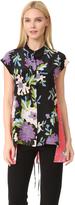 Diane von Furstenberg Asymmetric Short Sleeve Shirt