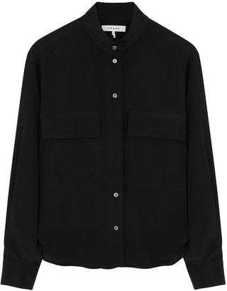 Frame Clean Safari black silk shirt