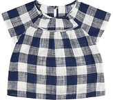 Jigsaw Girls' Gingham Top, Navy