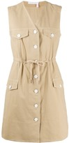 See by Chloe Button Up Cotton Day Dress