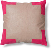 The Piper Collection Tracy 24x24 Linen Pillow, Pink