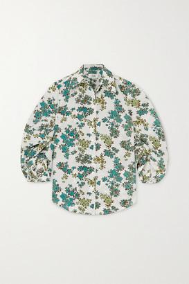 Victoria Victoria Beckham Victoria, Victoria Beckham Gathered Floral-print Crepe Shirt