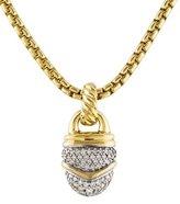 David Yurman 18K Diamond Acorn Pendant Necklace
