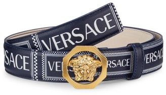Versace Medusa Buckle Logo Leather Belt