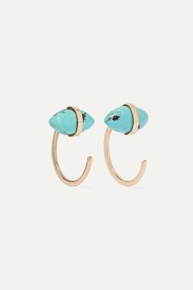 Melissa Joy Manning + Net Sustain 14-karat Gold Turquoise Earrings