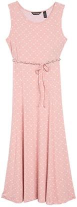 Nina Leonard Sylvia Sleeveless Midi Dress