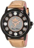 Paris Hilton Women's PH.13181JSB/02 Fame Pave Glitter Rose Leather Watch