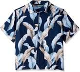 Cubavera Cuba Vera Men's Big and Tall Leaf Print Woven Shirt