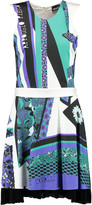 Just Cavalli Printed satin mini dress
