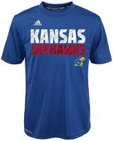 adidas Boys 4-7 Kansas Jayhawks Blue Shock Energy Climalite Tee