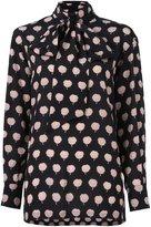 Lanvin plant contrast print blouse